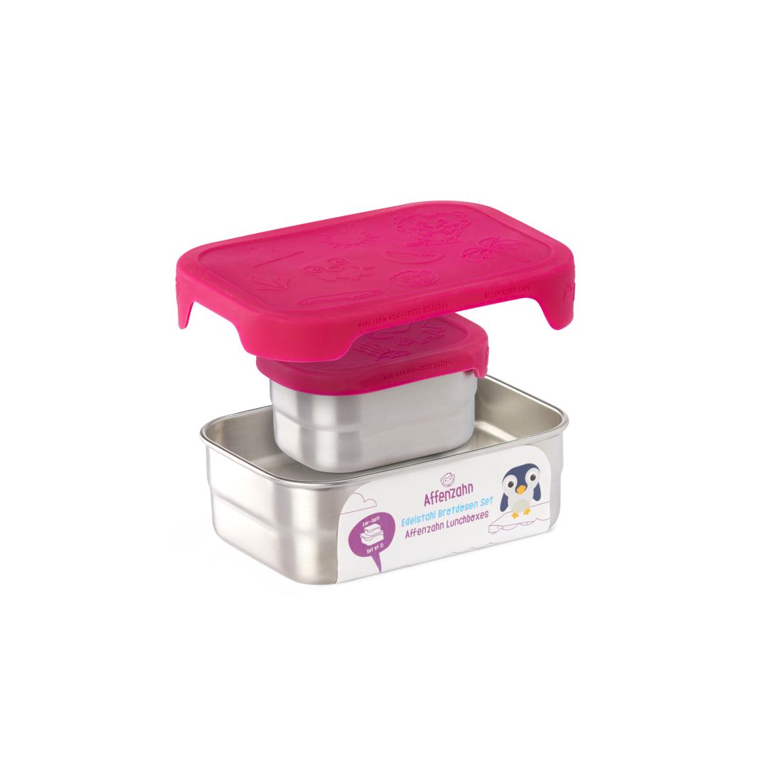 Edelstahl Brotdosen-Set Pink - 39,90€