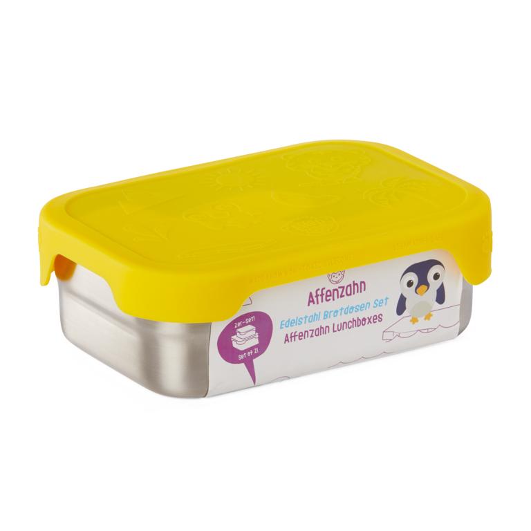 Edelstahl Brotdose Set gelb - 39,90 €